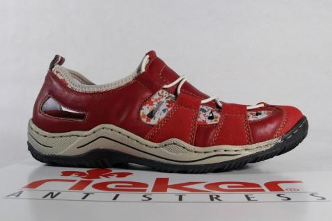 Rieker Damen weiche Slipper, Halbschuh, Sneaker, rot weiche Damen Innensohle , L0561 NEU! 8794f3