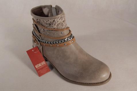 Mustang Stiefel Boots Stiefeletten Schnürstiefel Boots Stiefel beige NEU! Beliebte Schuhe d0a4e0