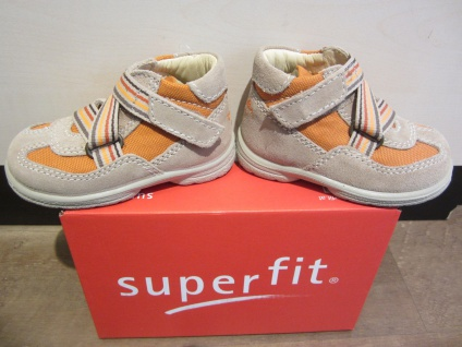 Superfit Neu LL-Stiefel beige/orange KV Lederfußbett Neu Superfit !!! 3c23ab
