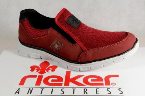 Rieker Herren Slipper Halbschuhe Sneakers rot B4873 NEU