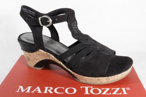 Marco Tozzi Sandale Damen Sandale Tozzi Sling schwarz NEU!! 30f3b6