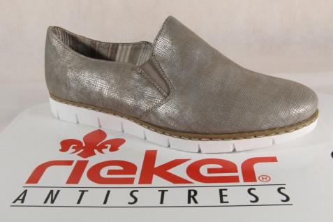 Rieker Halbschuhe Damen Slipper Pumps Halbschuhe Rieker Ballerina bronze, M1354 Neu!!! dd07a4