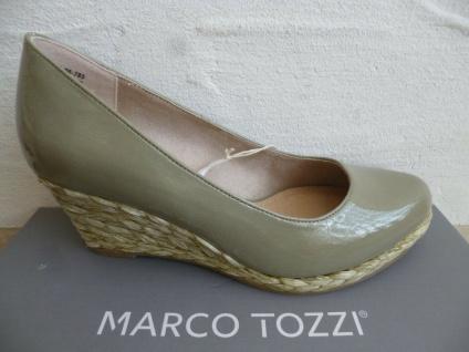 Marco Tozzi Pumps Ballerina Slipper grün Lack 22440 NEU!
