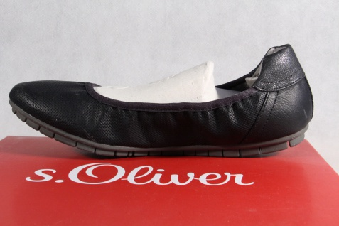 S.Oliver Ballerina Slipper Sneakers Pumps NEU!! schwarz NEU!! Pumps fa38e2