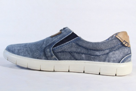 s.Oliver Herren Slipper Sneakers Halbschuhe, blau Textil Stoff NEU