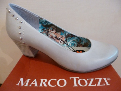 Marco Tozzi Pumps Ballerina Slipper grau Echtleder NEU!