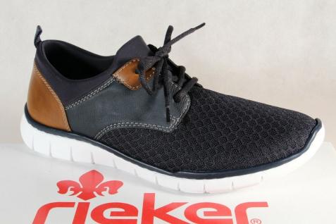 Rieker Herren Slipper Halbschuhe Sneakers blau B8751 NEU