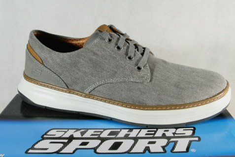 Skechers Herren Schnürschuhe Sneakers Sportschuhe grau NEU!