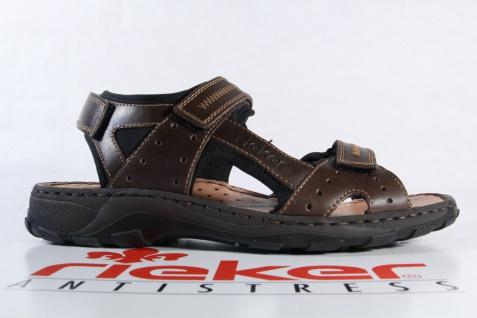 Rieker Sandale weiche braun weiche Sandale Innensohle, Klettverschluss NEU 086552