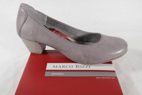 Marco Tozzi Slipper Pumps Ballerina grau Leder NEU!