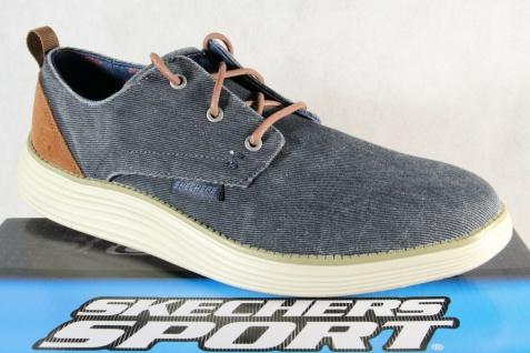 Skechers Herren Schnürschuhe Sneakers Sportschuhe blau/ jeans NEU!