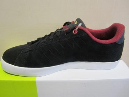Adidas Herren Schnürschuh Sneakers DERBY schwarz/bordo Leder NEU - Vorschau 5