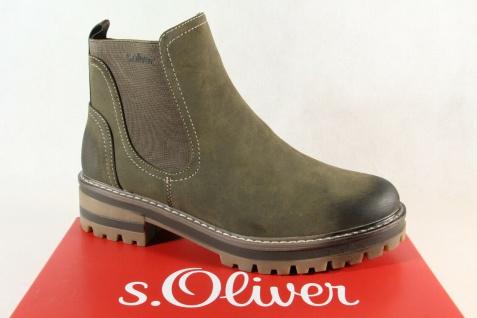 S.Oliver Damen Stiefelette Stiefel Boots Schlupfstiefelette oliv grün NEU!