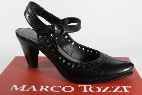Marco Tozzi schwarz Damen Sandale Sling Echtleder schwarz Tozzi NEU!! 82b32a