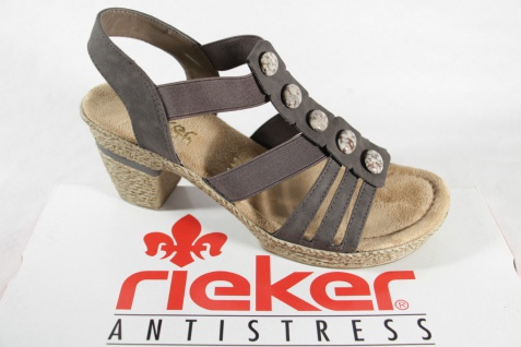 Rieker Damen NEU!! Sandale grau, weiche Innensohle, NEU!! Damen f02d91