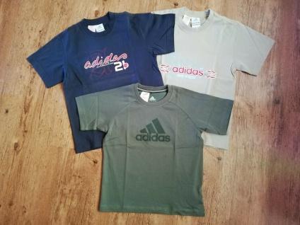 Adidas T-Shirts Set Jungen schwarz beige grün/khaki Angebot Kinder Sport NEU - Vorschau 5