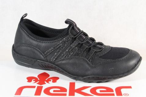 Rieker Slipper Sneakers Halbschuhe Sportschuhe schwarz N5250 NEU!!