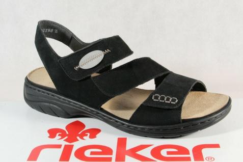 online store 2f2e7 7efa0 Rieker Damen Sandalen Sandaletten Sandale schwarz Echteder 64573 NEU!!