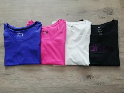 Adidas T-Shirts Tops Set Damen schwarz pink weiß lila Top Frauen Sport NEU