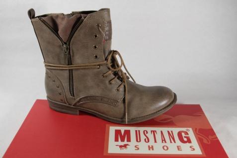 Mustang Stiefel, Stiefeletten Boots, braun pfeffer NEU