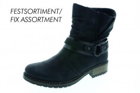 Rieker Damen Stiefel Stiefeletten Winterstiefel Boots schwarz Z6881 NEU