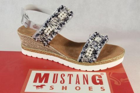 Mustang Damen Sandale Sandalen Sandalette Sandaletten grau/silber 1317-801 Neu!