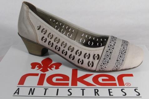 Rieker Slipper Ballerina beige Halbschuhe Pumps weiche Lederinnensohle, beige Ballerina NEU 8f4746