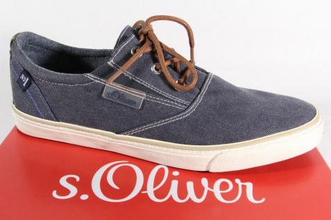 s.Oliver Herren Sneakers Halbschuhe Schnürschuhe blau 13613 NEU