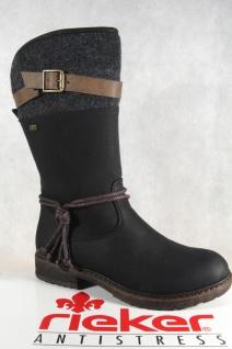 Rieker-Tex schwarz Damen Stiefel Stiefeletten schwarz Rieker-Tex warm gefüttert 94778 NEU 8a339f