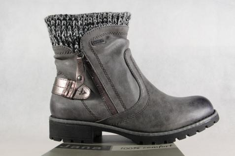 Jana-Tex Damen Stiefelette Stiefel Boots Winterstiefel grau grau grau NEU Beliebte Schuhe 4f3d9b