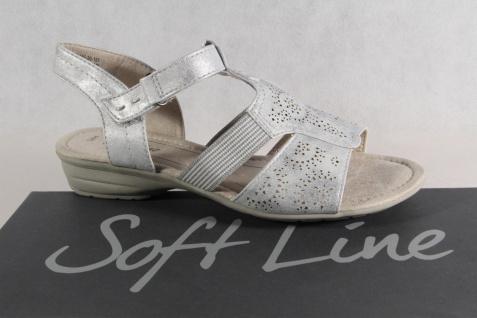 Soft Line by Jana Damen Neu! Sandalen Sandaletten Pantoletten grau Neu! Damen e38974