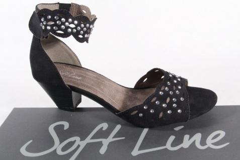 Soft Line Damen Sandalen Sandaletten Sandaletten Sandalen schwarz Neu! cc8e36