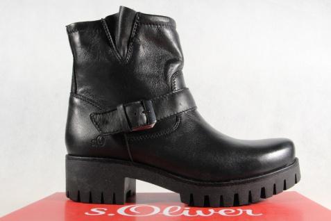 S.Oliver schwarz Damen Stiefelette Stiefel Winterstiefel schwarz S.Oliver mit Reißverschluß NEU 4e3f73