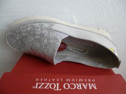 Marco Sneakers Tozzi Damen Slipper Ballerina Sneakers Marco Halbschuhe grau silber NEU! 9b22ef