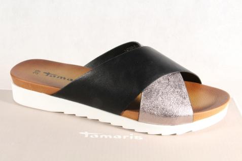 Tamaris Pantolette Hausschuhe Pantoletten Hausschuhe Pantolette Pantoffel schwarz/silber NEU! 6a04e6
