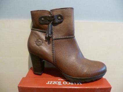 Marco Tozzi Damen Stiefel, Stiefeletten braun, 25007 weiches Leder, RV NEU 25007 braun, !! 8068b1