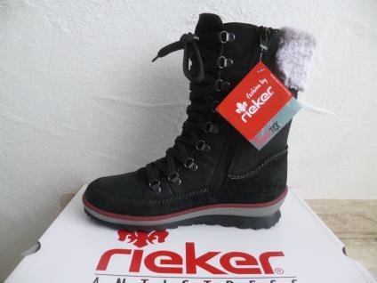 Rieker Damen schwarz Stiefel Stiefel Stiefelette Winterstiefel schwarz Damen K4372 NEU 30b3d2