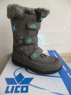 Lico Mädchen Stiefel Winterstiefel Boots grau wasserdicht NEU!!