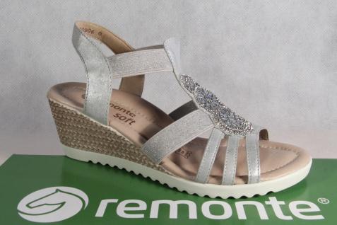 Remonte Sandale Sandaletten grau Sandalette grau Sandaletten Lederfußbett NEU! 453ef6