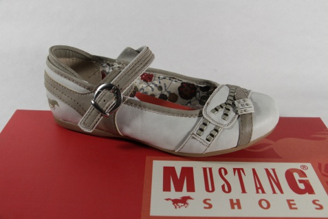 Mustang Mädchen Ballerina Slipper beige/grau NEU!!