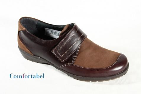 Comfortabel Damen Slipper braun Lederfutter Wechselfußbett 941339 NEU!