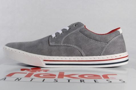 Rieker Herren grau Schnürschuhe, Sneakers Halbschuhe Textil grau Herren NEU 95314e