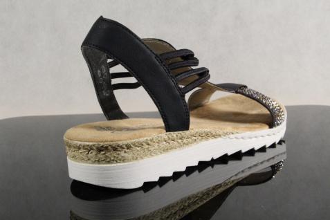Rieker Damen NEU!! Sandale Sandalette Sandalen blau NEU!! Damen 103271