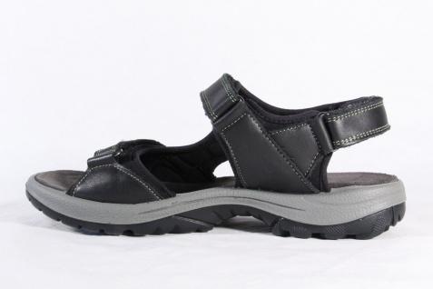 Manitu Damen Sandale Klettverschluß Sandaletten Sandalette schwarz, Leder, Klettverschluß Sandale NEU! 5d91f6