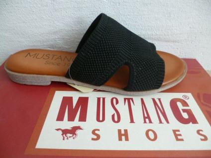 Mustang Pantolette Pantoletten Sandalen schwarz 1388 Neu!