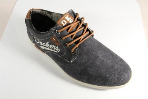 Dockers Sneaker Herren Schnürschuhe Sneaker Dockers Halbschuhe Slipper schwarz NEU! 00426c