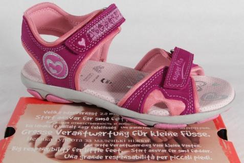 Superfit Mädchen Sandale pink/ rose, Lederfußbett, flach NEU!!