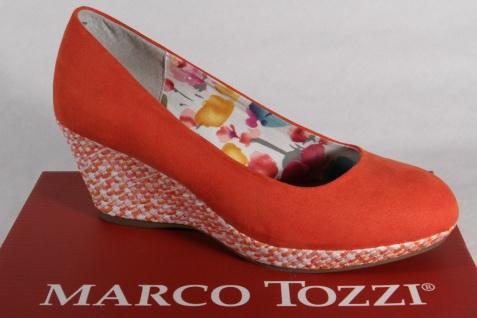 Marco Tozzi Pumps Slipper Ballerina orange, weiche Innensohle, Keilsohle, NEU!