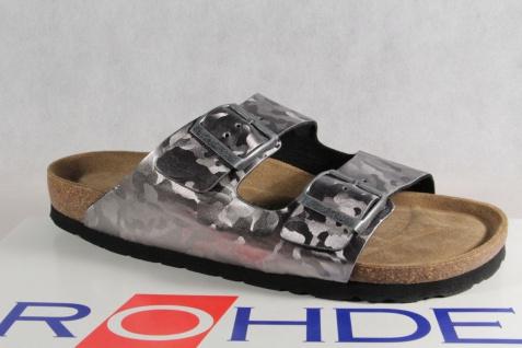 Rohde silber Pantolette, Pantoletten Hausschuhe Pantoffel silber Rohde Weite G NEU! f9d220