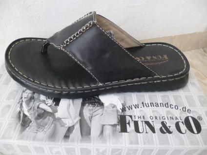 Herren Zehenstegpantolette Pantolette schwarz Leder Lederinnensohle NEU!